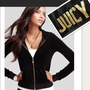 Juicy Couture Sequin Velour Jacket Large